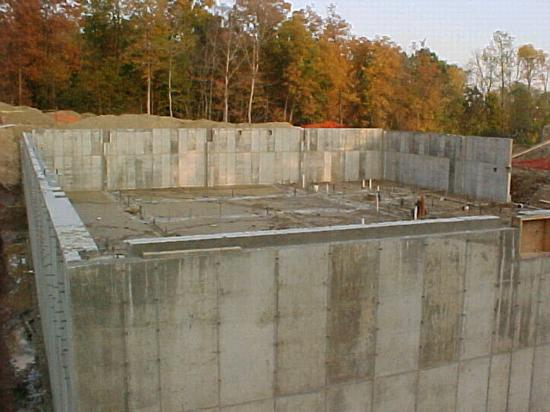 Flint township police department michigan for Poured concrete basement walls